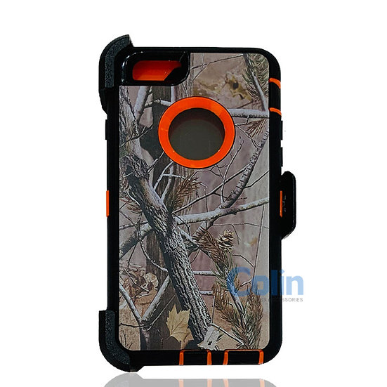 iPhone 6/6S hybrid design case with clip heavy duty holster cover - ORANGE TREE