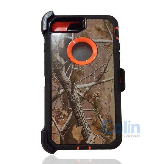 iPhone 7/8 hybrid design case with clip heavy duty holster cover - ORANGE TREE