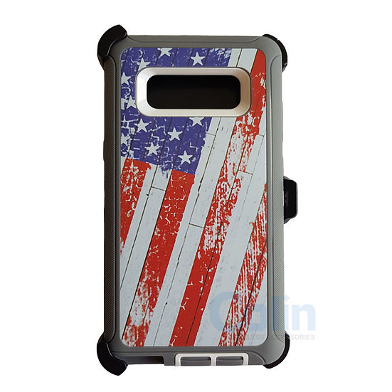 Samsung galaxy Note 8 hybrid design case with clip heavy duty holster cover FLAG