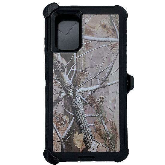 Samsung galaxy S20 plus hybrid design case with clip heavy duty - BLACK TREE