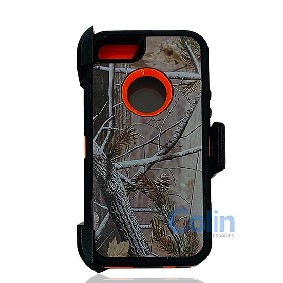 iPhone 5/5S hybrid design case with clip heavy duty holster cover - ORANGE TREE
