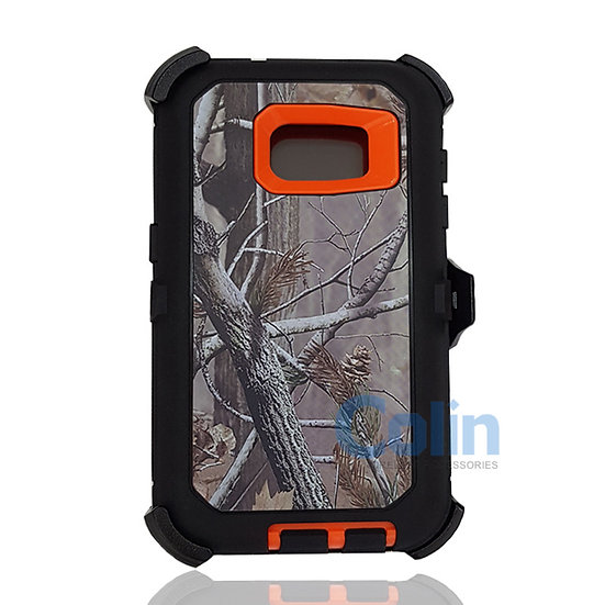 Samsung galaxy S7 design case with clip heavy duty holster cover - ORANGE TREE