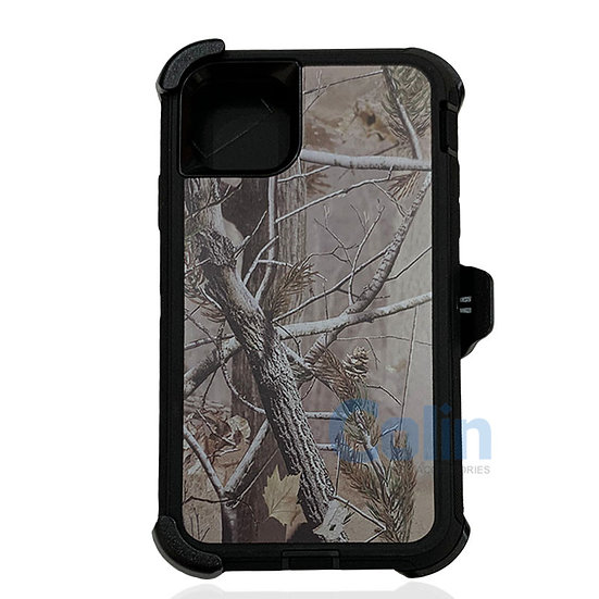 iPhone 11 hybrid design case with clip heavy duty holster cover - BLACK TREE