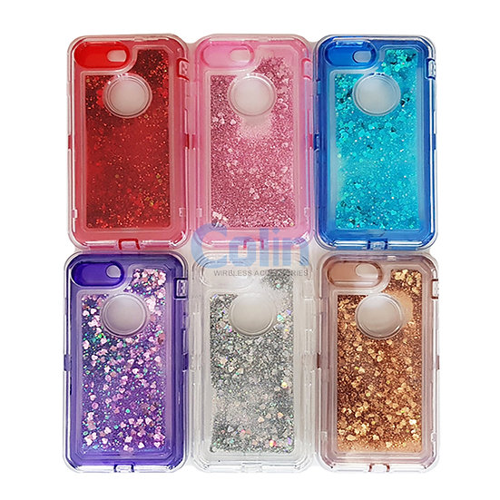 iPhone 6/7/8 Glitter Liquid Floating Case Sparkle Protective Heavy Duty cover
