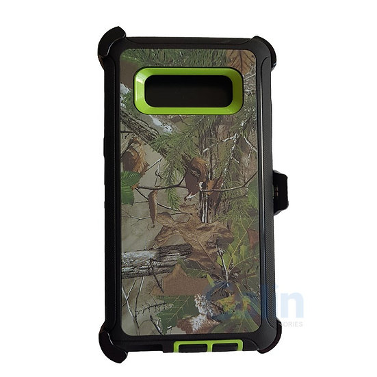 Samsung galaxy Note 8 design case with clip heavy duty holster cover GREEN TREE