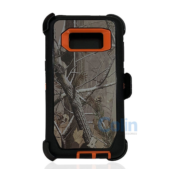 Samsung galaxy S8 design case with clip heavy duty holster cover - ORANGE TREE