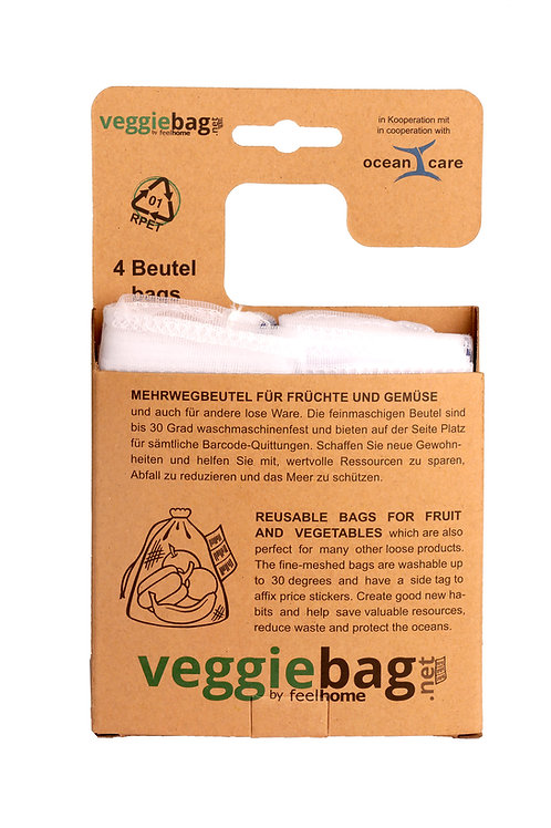 RPET veggiebag / 4er-set
