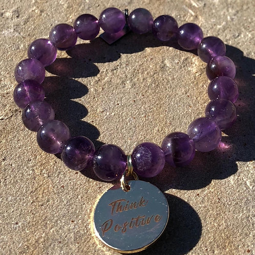 Amethyst Think Positive Bracelet