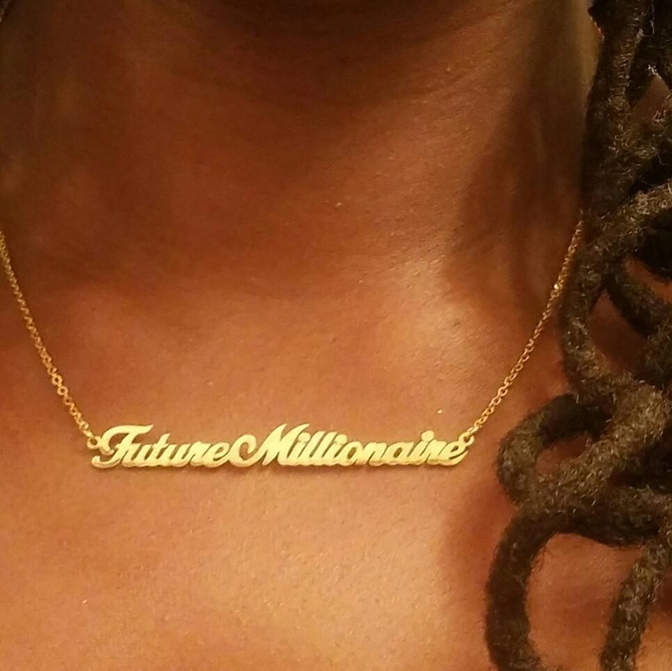 Future Millionaire Affirmation Necklace