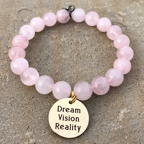 Dream Vision Reality Rose Quartz Bracelet