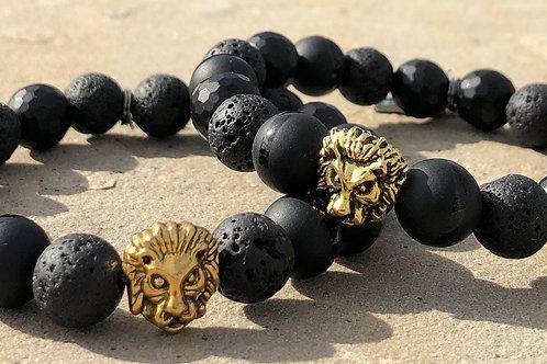 Lion Onyx Men's Bracelet