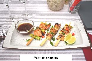 yakitori skewers for dinner in asian restaurant in Vodice