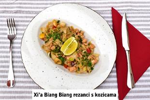 kinesko jelo rezanci s kozicama u Dida Boža restoranu u Vodicama