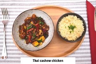 asian food thai cashew chicken in international Vodice restaurant