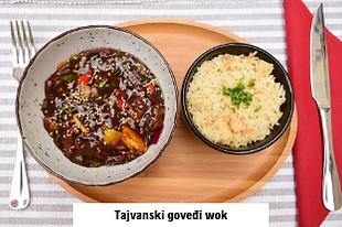 azijska hrana goveđi wok u Dida Boža internacionalnom restoranu u Vodicama