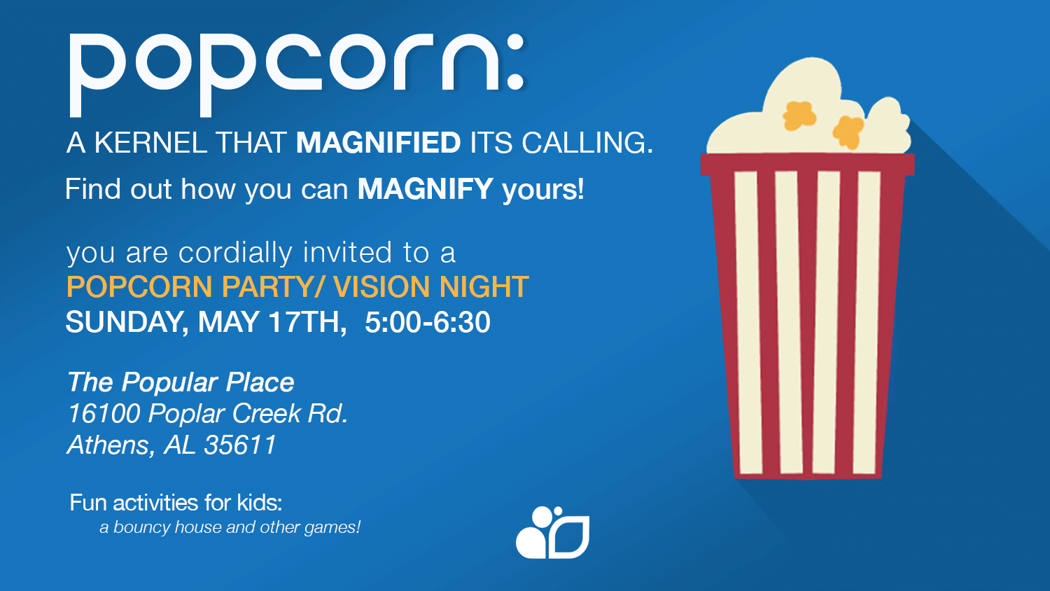 Growchurch Popcorn Social Flyer