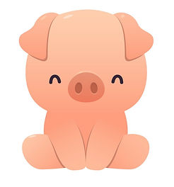 cute-pig-cartoon-sitting-on-white-vector