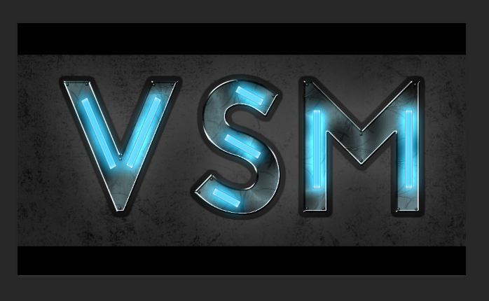 VSM Grunge Neon Logo