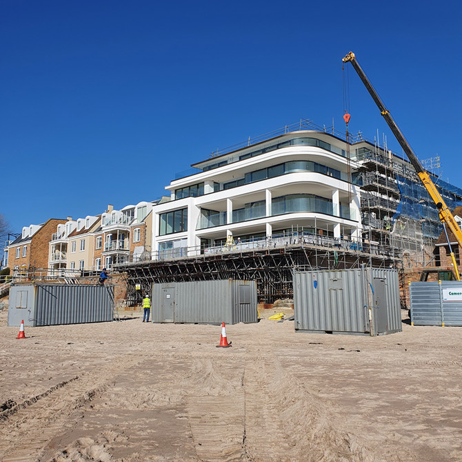 Beach Hotel - Nearing completion