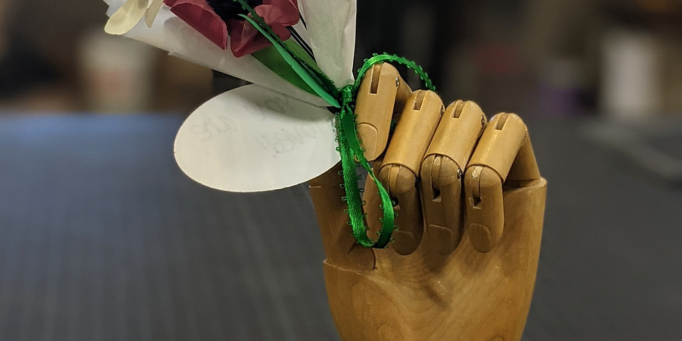Paper Flower Bouquet Build Day