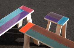 Moire benches & stools