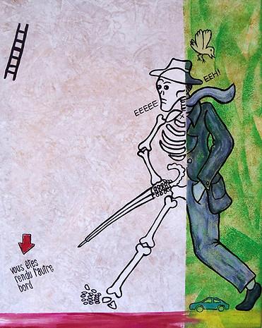Homme mort en marchant