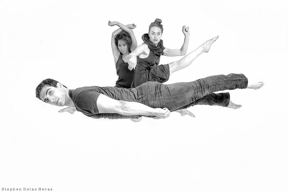 Callie Ritter, Lonnie Stanton and Frank Leone, dancers