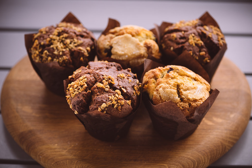 Nutella Banana & Blueberry Muffins