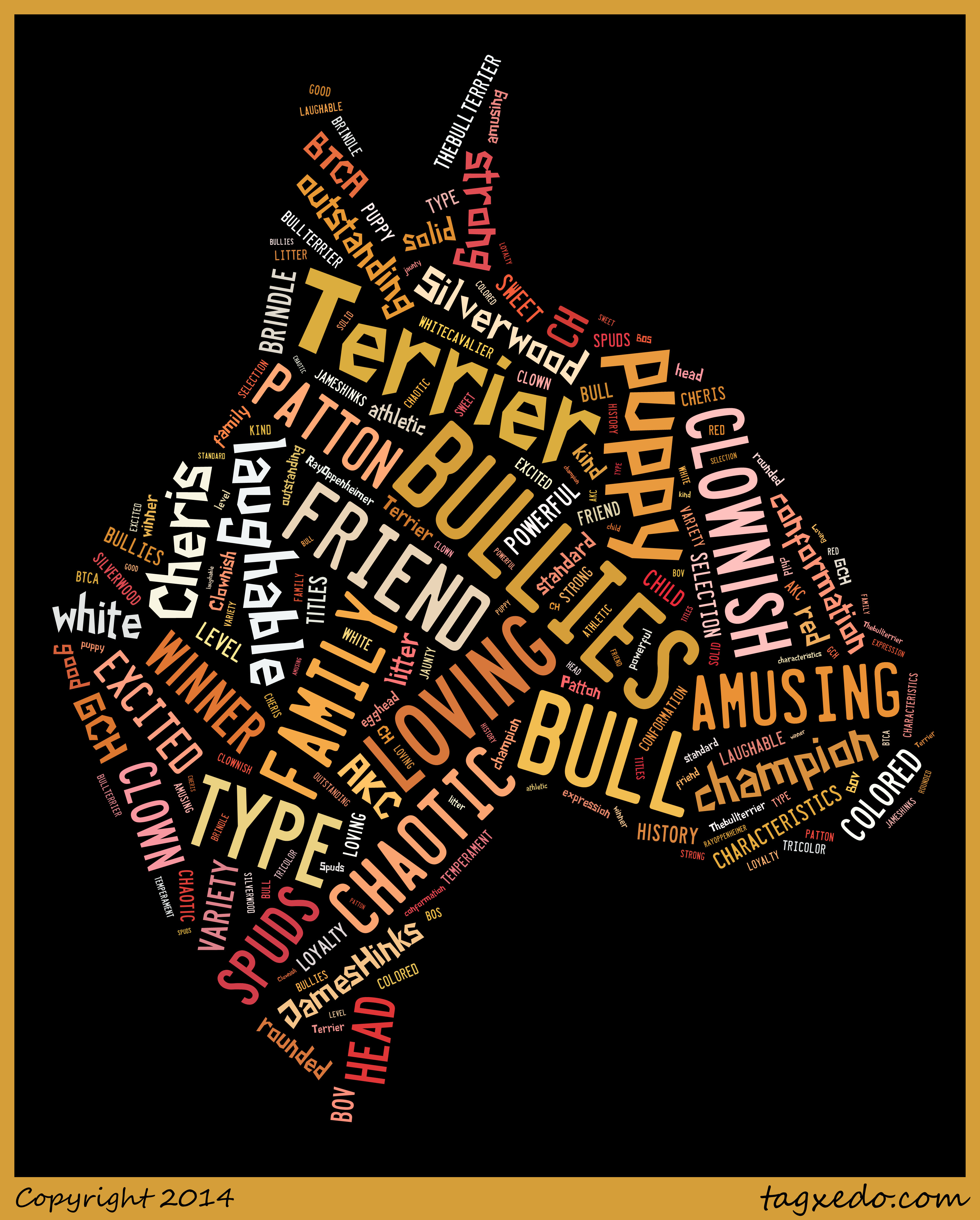 bull head word art
