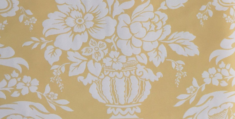Yellow Ribbon Floral - Large Pattern Fabric