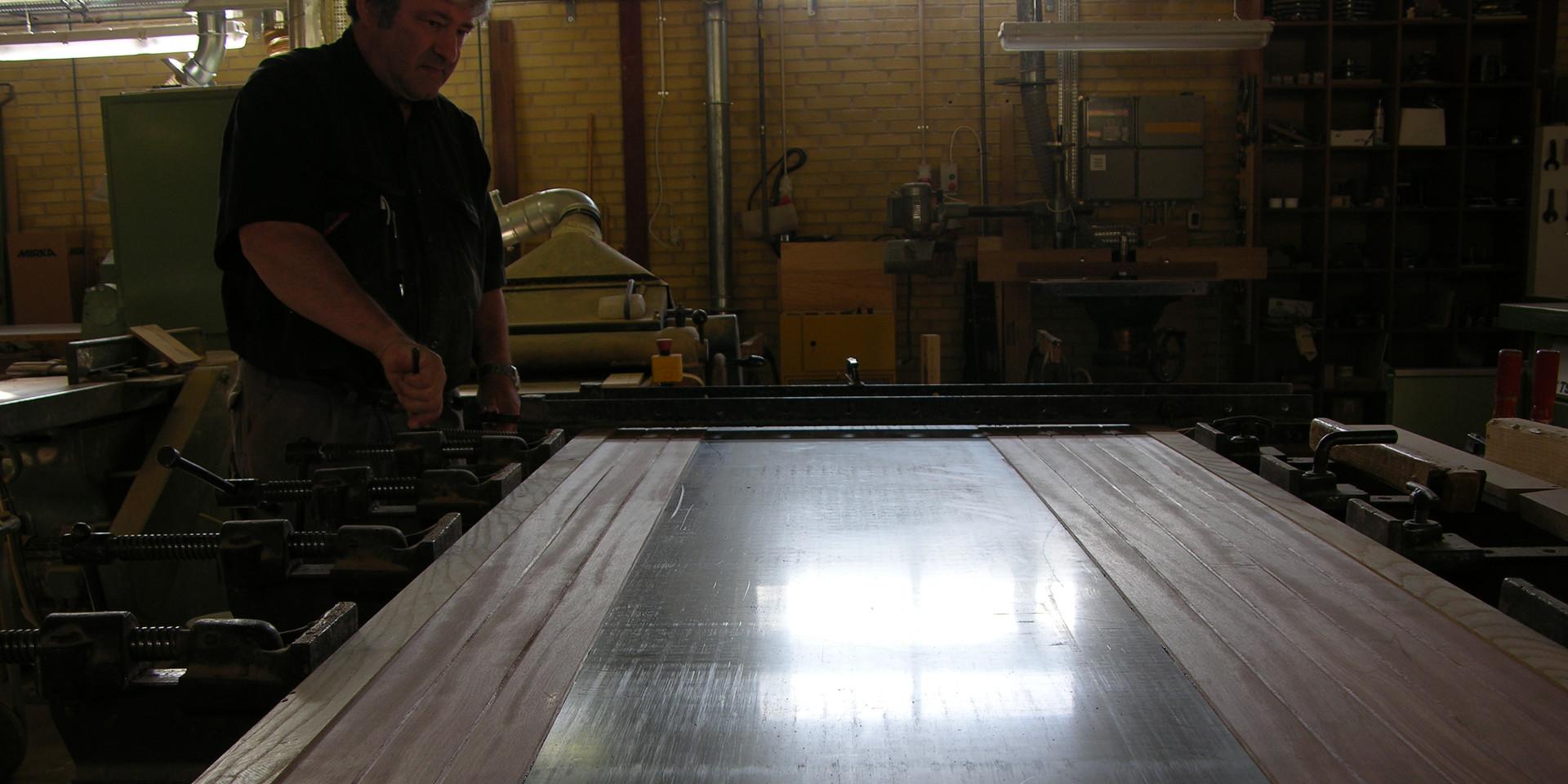 Putting together hardwood and acrylic