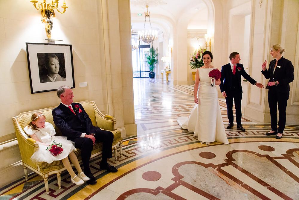 Ceremonie de mariage Shnagri La Hotel Paris Musique mariage Mariée