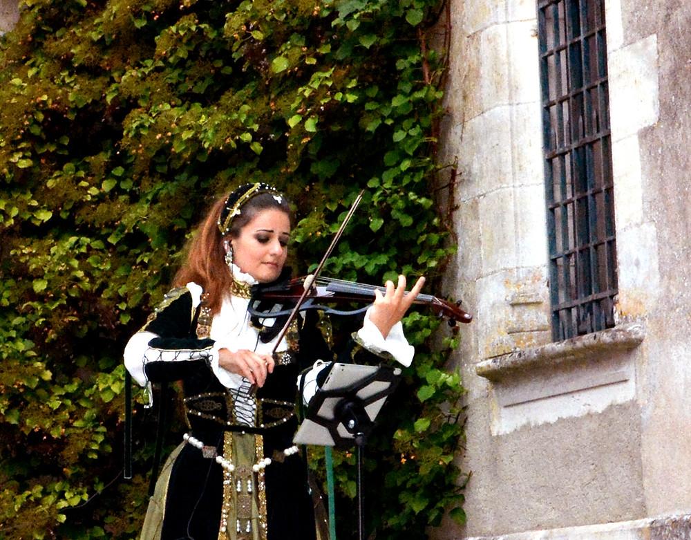 Euterpe Renaissance Costume Chateau COCKTAIL MUSIC french castle musique mariage musique live mariage event yamaha