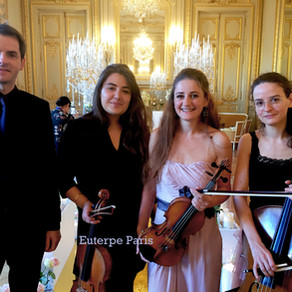 Our Classical String Trio and harp In Shangri-La Palace