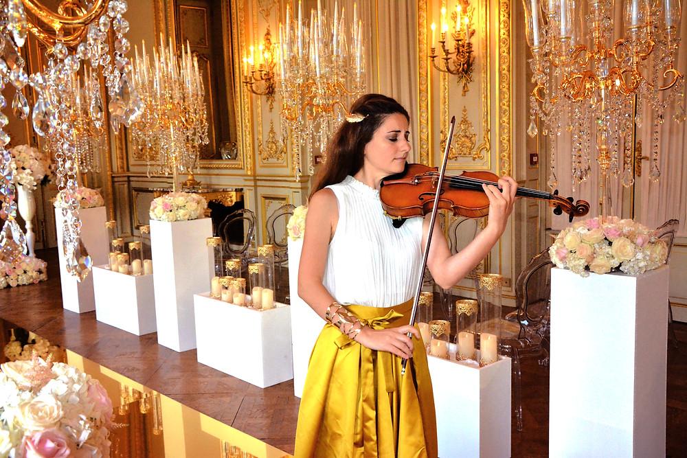 Shangri La Hotel Paris wedding luxury music band paris violinist