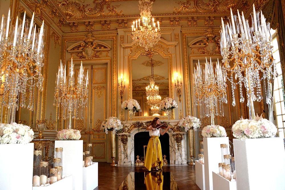 violoniste shangri la paris hotel ceremonie de mariage