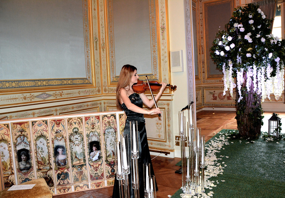 Euterpe Paris  Euterpe Violinist Shangri La Paris Ceremony Wedding Palace Mariage Musique
