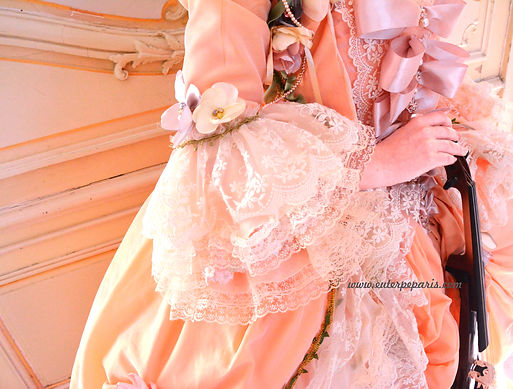 dentelle, rubans, noeud, detail, fleurs en tissus, handmade, hande, violon, rococo, élégante , chateau, art de vivre à la francaise, french art de vivre, skripachka na prazdnik