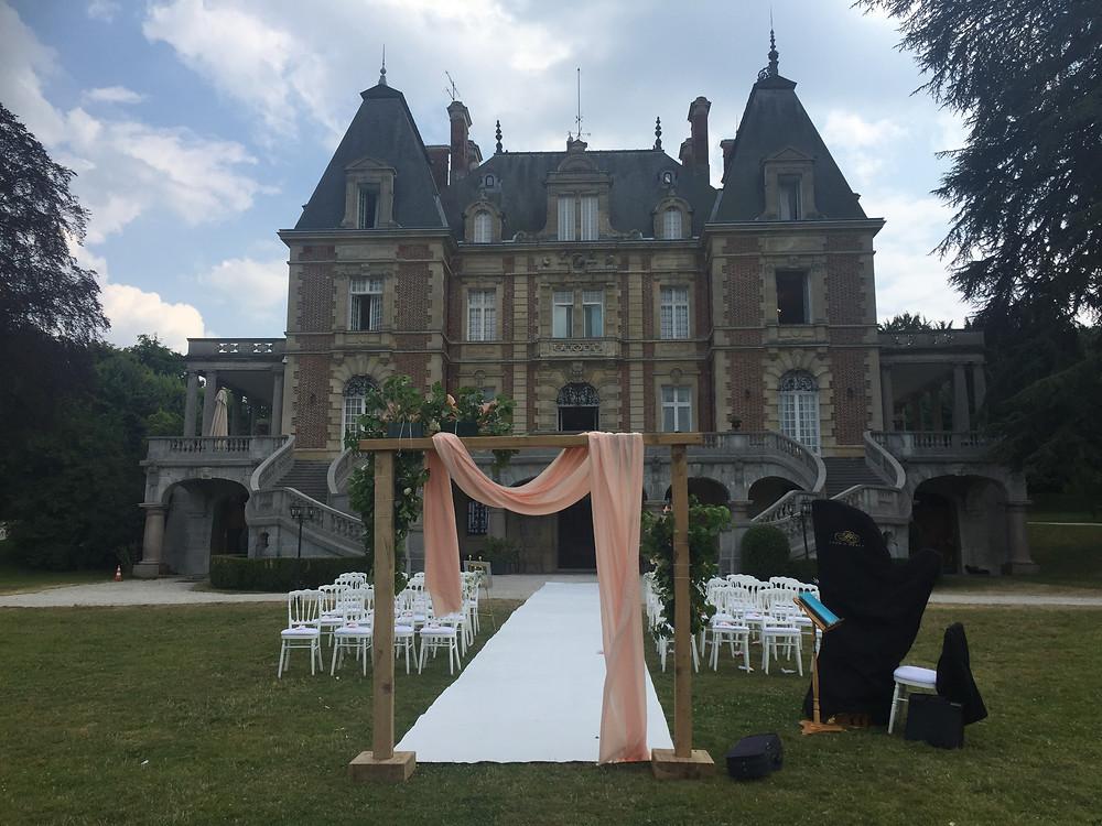 ceremonie de mariage, musique classique, violon et harpe duo, euterpe paris duo