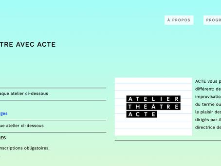 Coucou Project - ATELIERS THÉÂTRE AVEC ACTE