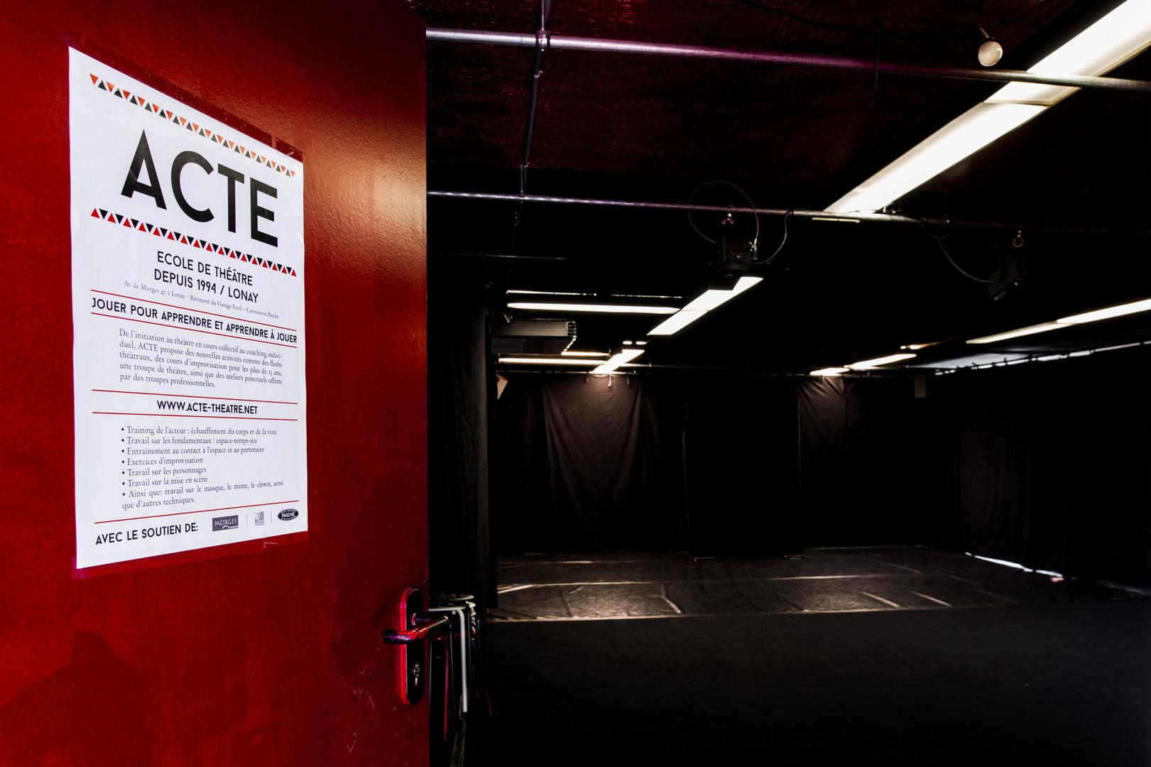 Entrée de laSalle de cours de théâtre salle de cours