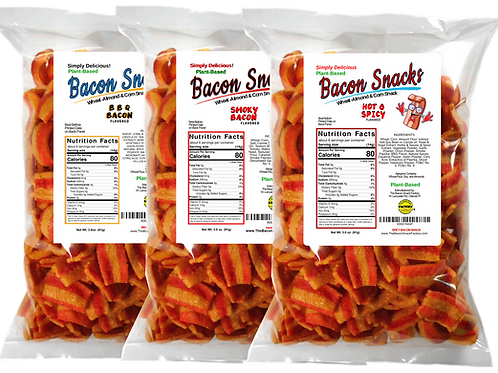 VARIETY(3) Pack - Hot & Spicy - BBQ - Smoky Bacon