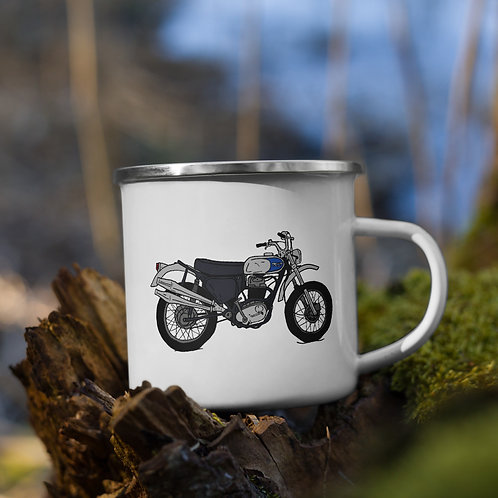 Vintage Triumph Enamel Mug