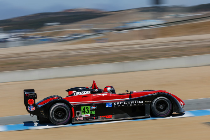 Evans shows strong results in his first Mazda Prototype Lites race