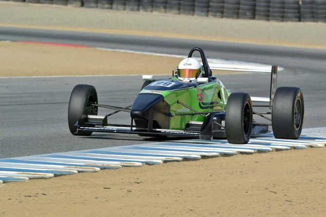 Evans is Victorious at Mazda Raceway Laguna Seca, Claims Series Title
