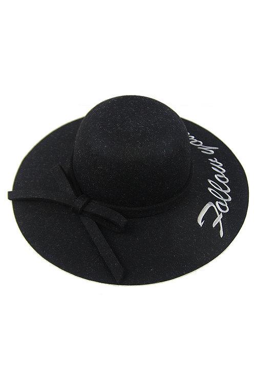Black follow your dreams hat
