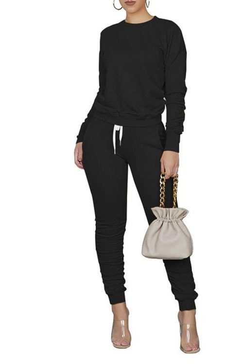black pant set