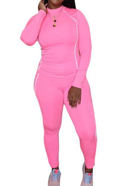 Hot pink pant set