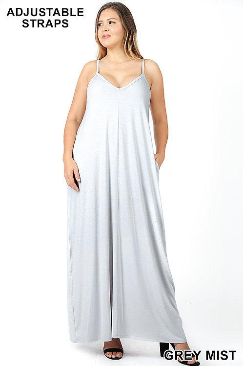 grey mist plus maxi dress