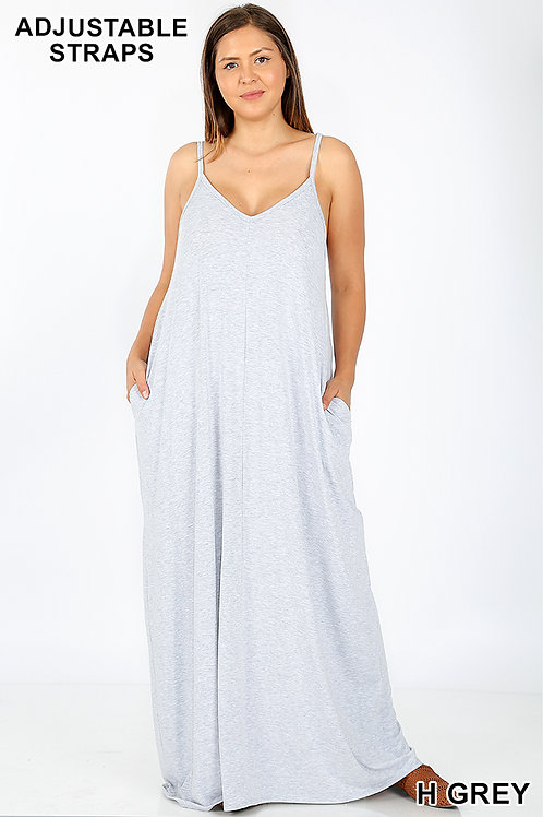 heather grey plus maxi dress
